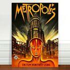 "Vintage Sci-fi Movie Poster Art ~ CANVAS PRINT 24x18"" Metropolis #2"