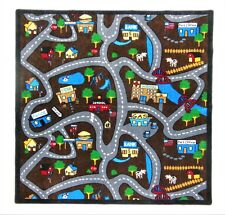 """Country Roads 4'4"""" x 5'6"""" children's educational and play area rug"""