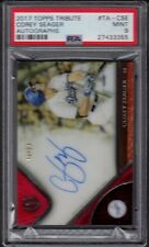 2017 Corey Seager Topps Tribute Autographs Red Auto /10 Graded PSA 9 Mint