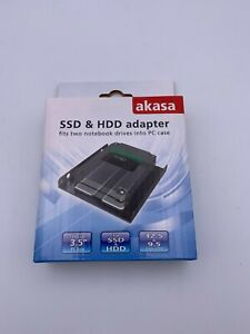 Akasa SSD & HDD Adapter Caddy Enclosure 2.5 to 3.5 PC Bay (OFFERS WELCOME)