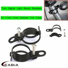 27mm-31mm Motorcycle Turn Signal Light Mount Brackets Fork Ear Clamps For Harley
