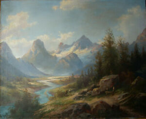 Karl Kaufmann (1843-1905) Polstertal in Hinterstoder