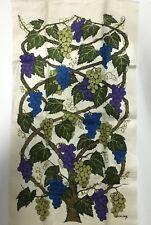 New listing Vintage Lois Long purple and blue grapes vintage tea towel 17 x 30