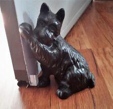 Cast Iron Black Scottie Dog Doorstop Heavy 4 lb Pre-Owned Mint