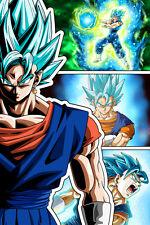Dragon Ball Super/Z Vegito Super Saiyan Blue 12in x 18in Poster Free Shipping