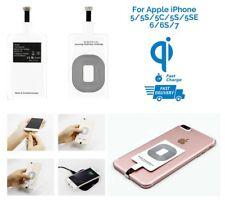 Universal Qi Inalámbrico Cargador Receptor de carga rápida para iPhone 5/5S/5C/6/6S/7