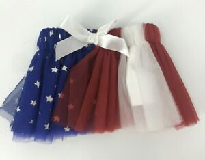 Petco Tulle Dog Skirt Size S/XS Patriotic America Red White Blue Excellent