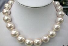 breathtaking 14 mm southsea white shell pearl necklace