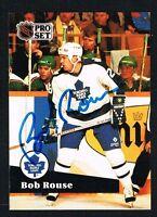 Bob Rouse #228 signed autograph auto 1991-92 Pro Set Hockey Trading Card