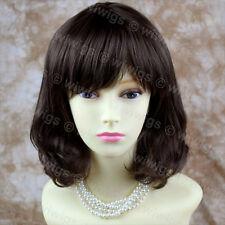 Stile classico Morbido Marrone Scuro Pelle Parrucche Da Donna Top Medio Parrucca da Wiwigs UK