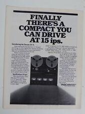 vintage magazine advert 1982 TASCAM 22-4 reel to reel