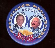 George W. BUSH 2004 pin RE-ELECT + CHENEY