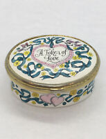 "Halcyon Days English Enamels Bilston and Battersea ""A Token of Love"" Trinket Box"