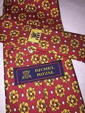 RICHEL ROYAL Red & Gold Floral Necktie