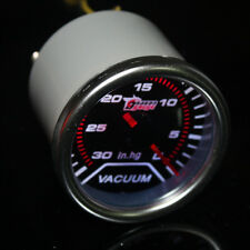 """Car Universal Smoke Len 2"""" 52mm Pointer Indicator Vacuum Gauge Meter In.Hg W8"""