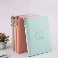 A5 365 Days Leather Cover Vintage Journal Notebook Lined Paper Diary Planner