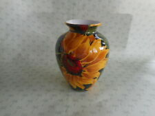 Decorative Ceramic Vase   Sunflower Design  NEW