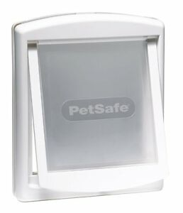 Staywell Pet dog door cat flap. Plastic cover Original White. Small Medium Large