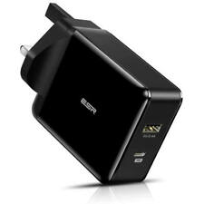 ESR Official USB C PD Charger 30W Power Supply For Fast Charging USB 5V Black UK