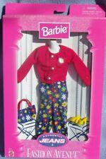 barbie FASHION AVENUE Authentic Jeans veste pantalon chaussure 1998 Mattel 19179
