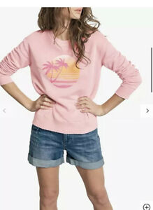 Hush Sunset Print Jumper in Rose Shadow Generous Size S
