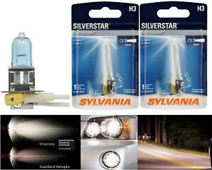 Sylvania Silverstar H3 55W Two Bulbs Fog Light Replace Legal DOT OE Lamp Stock