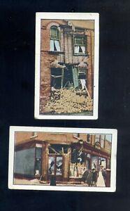 2- T121 1917 World War 1 Scenes German Bombardment of Scarsborough Sweet Caporal