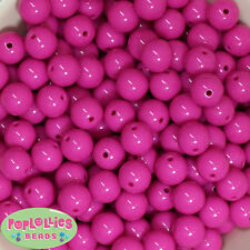 14mm Hot Pink Acrylic Solid Bubblegum Beads Lot 20 pc.chunky gumball