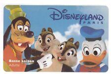 DISNEY PARIS PASS CARTE / CARD .. ADULTE DINGO DONALD TIC TAC  S 089734 10/12/97