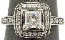 Estate 1.00 Tcw Scott Kay 14k Princess Cut Engagement Ring F Color I1 Clarity