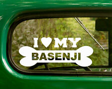 2 I Love My Basenji Dog Decals Breed Sticker for Car Truck Laptop Window Bumper
