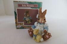 Tales of the Bunny Hollow Baby Bunny in a White w/Polka-Dot Dress Figurine Nib