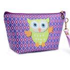 1Pc Women PU Waterproof Cosmetic Bag Owl Storage Makeup Handbag Travel Portable