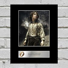 Elijah Wood, Frodo Baggins Signed Mounted Photo Display Lord of the Rings #2
