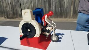 Evel Knievel Action Figure and Harley Davidson Motorcycle 1972 works