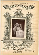 Cliché Carjat, Paris-Théâtre, Rosélia Rousseil (1840-1916), actrice Vintage albu