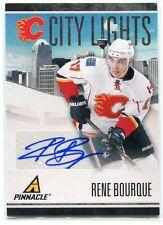 2010-11 Pinnacle City Lights Signatures 29 Rene Bourque Auto /99