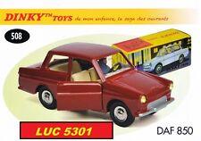 DAF 33 850 ROUGE #508 N°14 SERIE DES OUVRANTS PAR DINKY TOYS / ATLAS