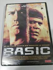 BASIC DVD JOHN TRAVOLTA SAMUEL L. JACKSON ESPAÑOL ENGLISH NEW NUEVA