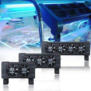 Aquarium Fish Tank Cooling Fan Adjustable Base Easy Install Temperature Control