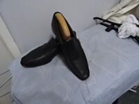 Mens Ted Baker Black Leather Slip Ons Shoes UK 7, EU 41 & US 8 Great Condition