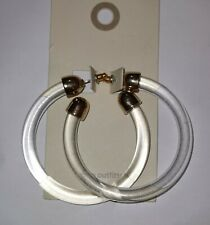 Urban Outfitters, earings, clear circle, golden colour,5.5 cm diam,  RRP 16.99