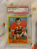 1967 Philadelphia Football Card #171 Bruce Bosley San Francisco 49ers PSA 7.5 NM
