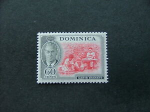 Dominica KGVI 1951 60c carmine & black SG132 MM