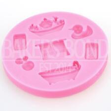 Bathtime Baby Shower Torta De Silicona Molde Decoración Impresora De Fondant Chocolate