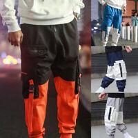 Men Harajuku Harem Hip Hop Pants Street Style Baggy Cargo Trousers Overalls