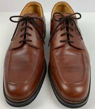 E. T. Wright Mens Dress Shoes 10.5N Brown Lace Up Oxfords Made In Italy