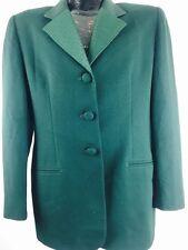 Vintage Christian Dior Jacket 90s Winter Green The Masters Designer Suit Coat 12