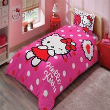 Hello Kitty Pink 100% Girl's Cotton Bedding Set Single Twin - FAST SHIPPING
