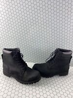 Timberland Black Nubuck Lace Up Waterproof Ankle Boots Men's Size 9 M
